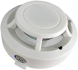Preyank Solar Smoke Detector (White) Fire Sensor Wireless Alarm