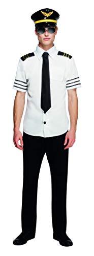 Fever Herren Mile High Kostüm, Mütze, Hemd und Schlips, Größe: M, 31871 (Mile High Kostüm)