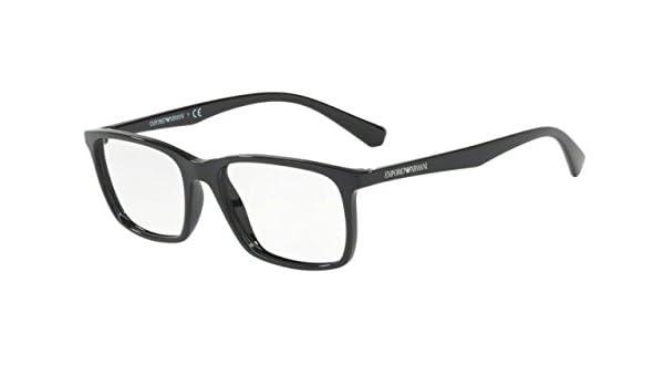 ff8ed41f1daf Emporio Armani EA3116F Eyeglasses 5017 Black 56-17-145  Amazon.co.uk   Clothing