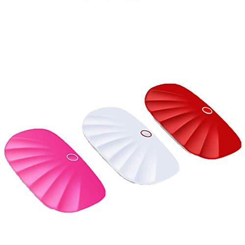 Nagel-Phototherapie-Lichttherapie-Maschine Backen-Nagel-Trockner-Minischnelltrocknender geführter Ofen-Minischneller Trockner,White (Uv-ofen)