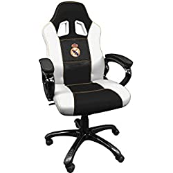 Real Madrid Silla gaming - Sillón gamer de oficina accesorio PS4, Xbox One, PC