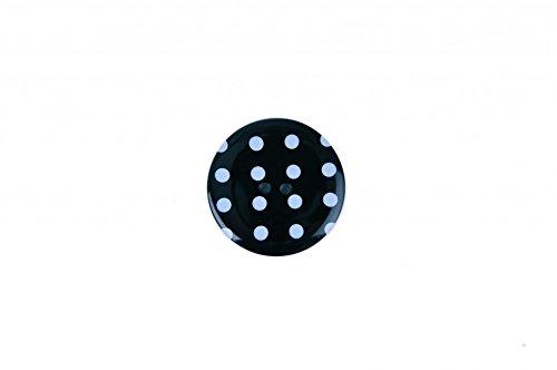 Crendon rund Spotty Print Kunststoff Tasten, schwarz, Preis pro Knopf