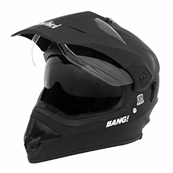 Steelbird SB-42 Motocross Bang Boy's Helmet (Matte Black)