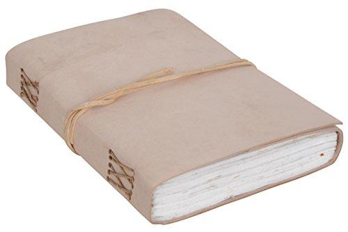 "Notizbuch Gusti Leder \""Destiny\"" DIN A5 Echtes Leder | Handgeschöpftes Papier Nachfüllbare Seiten | Recyclebar | Traditionelles Lederaccessoire Blanko Glatt Ohne Motiv P43"