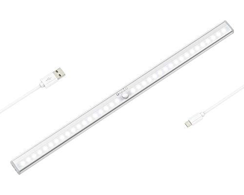 OxyLED Luces de sensor de movimiento,36 LED Luz de armario recargable USB,...