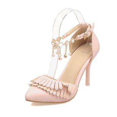 LvYuan Sandali-Matrimonio Ufficio e lavoro Serata e festa-Comoda Cinturino alla caviglia-A stiletto-PU (Poliuretano)-Blu Rosa Bianco White