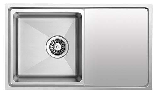 Lavello da incasso in acciaio inox lavabile in lavastoviglie e ...