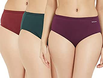 Fruit of the Loom Women's Plain Cotton Hipster (Pack of 3) (FHPS01-3P-DA2S9-Cabernet, Ponderosa Pine and Pickled Beet-S)