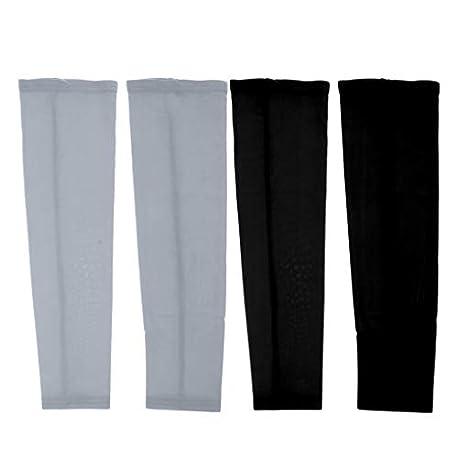 D DOLITY 2 Conjuntos de Mangas de Protecci n UV para Brazos Vestidos Protectoras para Baloncesto Tenis Squash