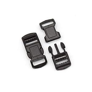 Steckschnalle 10mm Schwarz gebogen POM Acetal [10 Stück] HEAVYTOOL® Steckverschluss Klippverschluss Klickverschluss