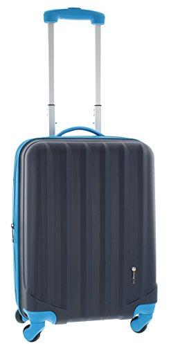 Pianeta Ibiza Hartschalen Koffer / Trolley mit 4 Rollen und Zahlenschloss 100% ABS (dunkelblau XL)