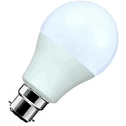 Lote de 3 bombillas LED, pera y B-22 opaco de diámetro, 60 mm, 7,5, w = 75 w 630 lumens. blanco cálido 3000 K, 20.000 h de vida