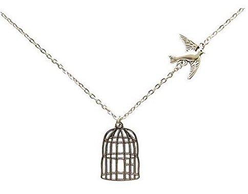 Fliegender Vogel Käfig Vogelkäfig Kette Anhänger Halskette (Flying Käfig)
