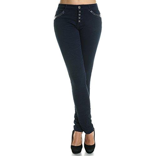 Damen Chino Hose Hüfthose Röhrenhose Abbildung 3