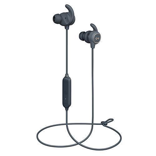 AUKEY Bluetooth Kopfhörer, Key Series Bluetooth 5 Kopfhörer mit Smart Switch, Wasserfestigkeit IPX6, 8 Stunden Akkulaufzeit und Mikrofon für Fitness Bluetooth-serie