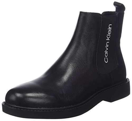 Calvin Klein Herren YASH Waxy Calf Chelsea Boots, Schwarz (Black 000), 41 EU (Calvin Klein Stiefel Männer)