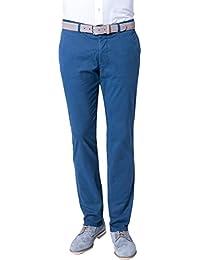 René Lezard Herren Chino Hose, Größe: 98, Farbe: Blau