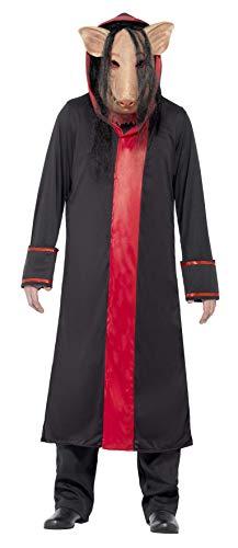 Größen Smiffy Kostüm - Smiffys, Herren Saw Schweine Kostüm, Maske und Kapuzenmantel, Größe: M, 20494