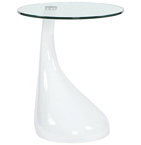 Table basse design MELTING blanc