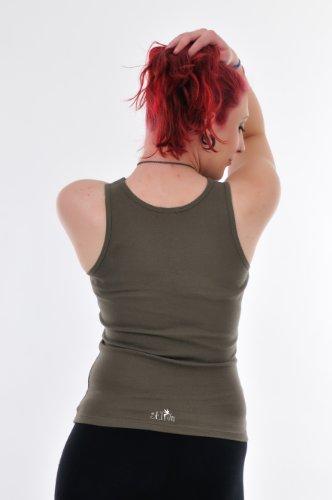 Débardeur Femme Haut - Tank Top avec laisser de fée - simple Tanktop - coton Armée