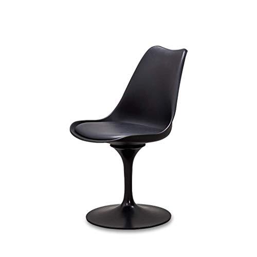 ZHA Bar Chair Esszimmerstuhl mit Rückenlehne Drehbarer Ledersitz Make-up Stuhl Nagelhocker Ergonomisches Design Metall Eisenplatte Basis Küche Frühstück Barhocker (Farbe : A)