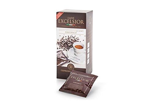 WAFFEL CAFFE' EXCELSIOR PORTORICO 18 KAFFEEPADS/ESE PADS/PODS (Waffel-pad)