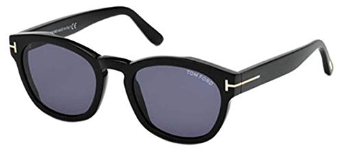 Tom Ford FT0590 01V 51 Montature, (Nero Lucido\\Blu), 51.0 Unisex-Adulto