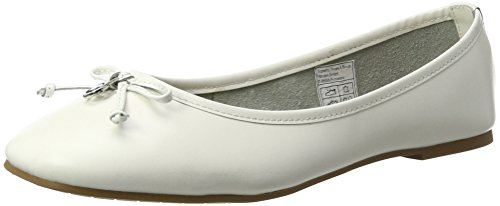 TOM TAILOR Damen 2794301 Geschlossene Ballerinas Weiß (white)