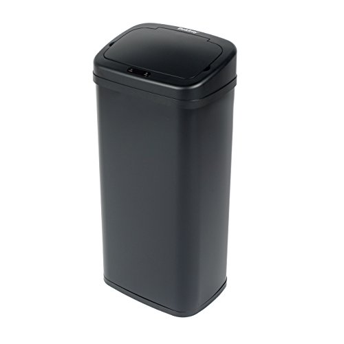 Beldray BW07022SSGP - Cubo de Basura con Sensor Redondo, Negro, 40 L