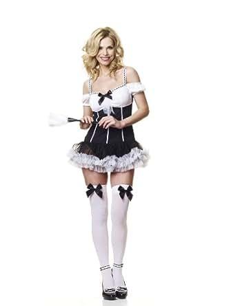 Sofias Closet Womens Sexy French Maid Fancy Dress Up Costume Cute Tutu