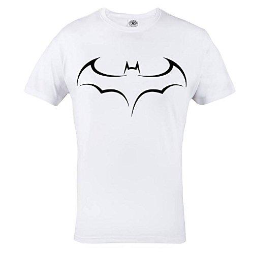 Rule Out Maglietta batman. SCURO knight. supereroe PALESTRA bodybuilding. allenamento. sportswear. crossfit. MARZIALE arti. mma. Casual Bianco