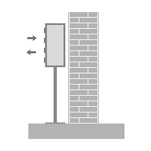 AL Briefkastensysteme 8er Briefkasten als Standbriefkasten, 8 Fach Briefkastenanlage in Anthrazit Grau RAL 7016 Postkasten modern - 5