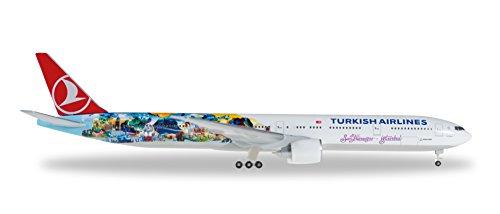 Preisvergleich Produktbild Herpa 528290 - Turkish Airlines Boeing 777-300ER, Istanbul nach San Francisco, Flugzeug, mehrfarbig