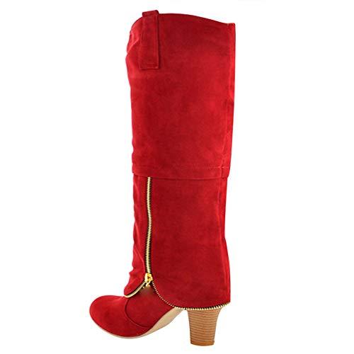 dccfa2dbb33486 Stiefeletten Damen Schuhe ABsoar Boots Steampunk Lederstiefel Vintage  Frauen Schnürer Langschaftstiefel Militärische Kampfstiefel Winter Bequem  Niedriger ...