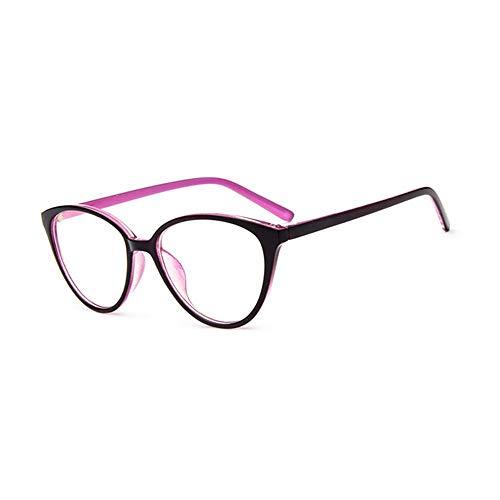 XCYQ Brillengestell Auge Klare Linse Brillengestell Frauen Blau-Ray Optische Brillengestell Myopie...
