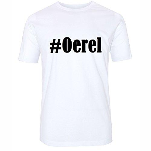 T-Shirt #Oerel Größe 4XL Farbe Weiss Druck schwarz