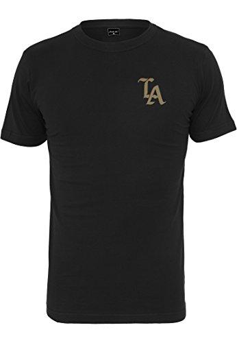 Mister Tee LA Tee - Herren Streetwear T-Shirt in Weiß und Schwarz, Größe XS bis XXL black/Gold
