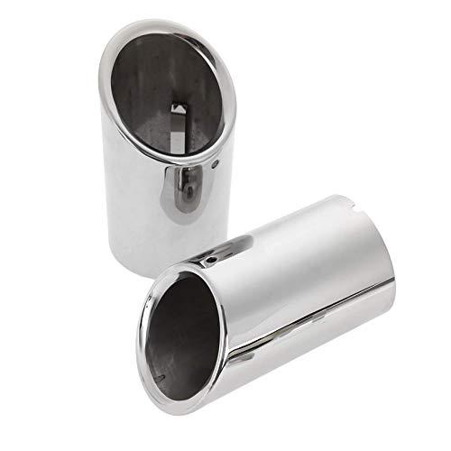 BIOENGIE Endrohre Auspuffanlage Edelstahl spiegel poliert Endrohrblenden Auspuffblende Endrohre 75MM - Platin 10.5