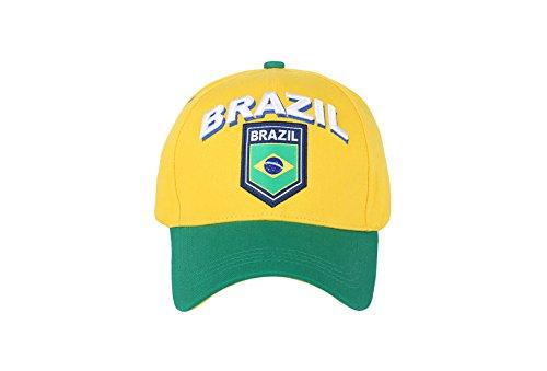 Fußball Football Club Futbol Sun Schnalle Gelb Hat Cap ()