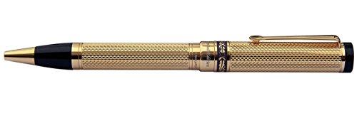 Xezo 18Karat Gold Layered diamantiert Kugelschreiber. Schwere und ausgewogene, Limited Edition (Tribune 18K Gold B)