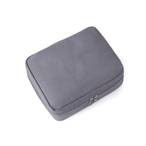 Contever® Multifunktions Kosmetiktasche Waschbeutel Kulturtasche Organizer mit Reißverschluss, 210x160x80mm-- Grau