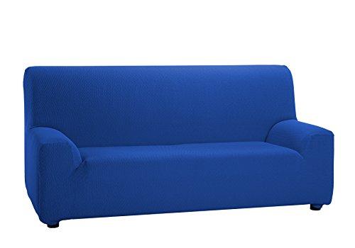 Martina Home - Copridivano elastico, 3 posti da 180 a 240 cm di larghezza, colore Blu Elettrico