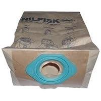 Karcher-Lote de 5 bolsas de papel para aspiradora nilfisk/gs gm80 ga70