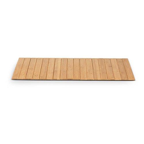 Badvorleger DOMUM Bambus, 60x40 cm Fußmatte Duschvorleger, rutschfeste Bambusmatte