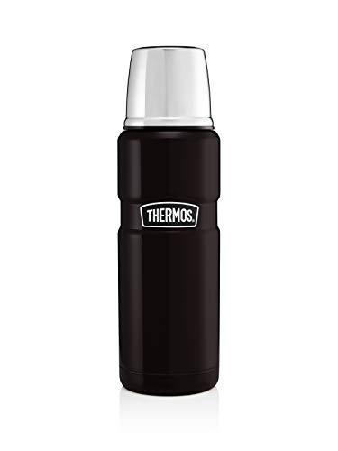 THERMOS en Acier Inoxydable 470ML, Noir Mat, 0,47 l