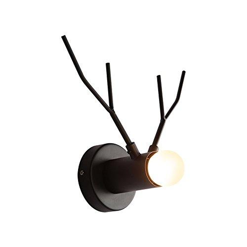 Kreative Eisen Wandlampen, Nordic LED Hirschkopf Dekoration Mini Wandbehang Lampe Moderne minimalistische Halle Wohnzimmer Schlafzimmer Wandleuchte Postmodern Esszimmer Bar Gang Wandleuchte