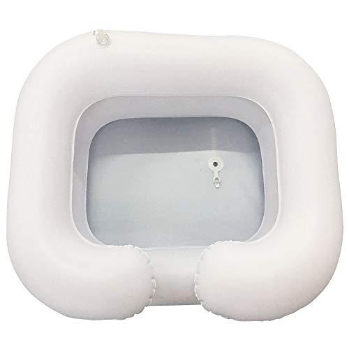 Lavado Cabello Lavabo Inflables Discapacitados Acondicionador PVC Cuidado Ancianos Ayuda Auxiliar Portátil en la Cama Bandeja champú Salón discapacitados Peluquería con Tubo Drenaje