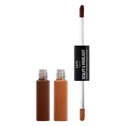 NYX Professional Makeup Sculpt & Highlight Face Duo, Make-up, 06 Espresso/Honey -