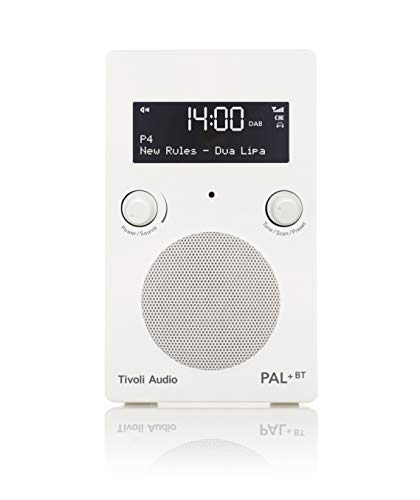 Bt-audio (Tivoli Audio Pal+ BT tragbares Radio FM/DAB+/Bluetooth, inkl. Akkupack und Fernbedienung, weiß)