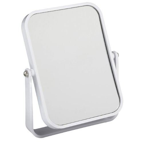 Free Standing Travel or Bathroom Mirror 3x Magnifying 18cm x 14cm White